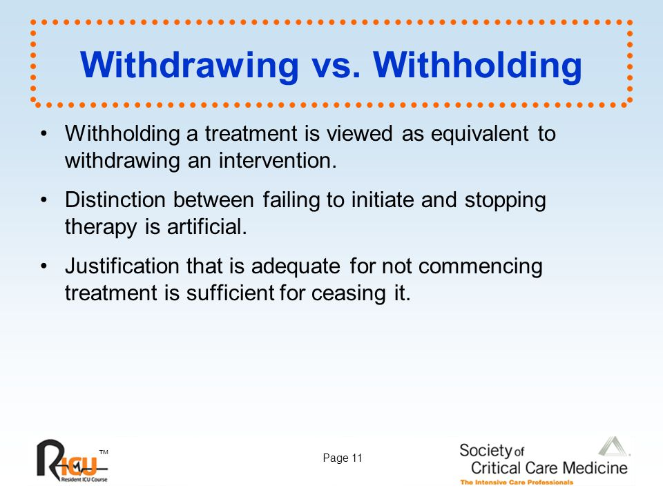 Withdrawing vs. Withholding