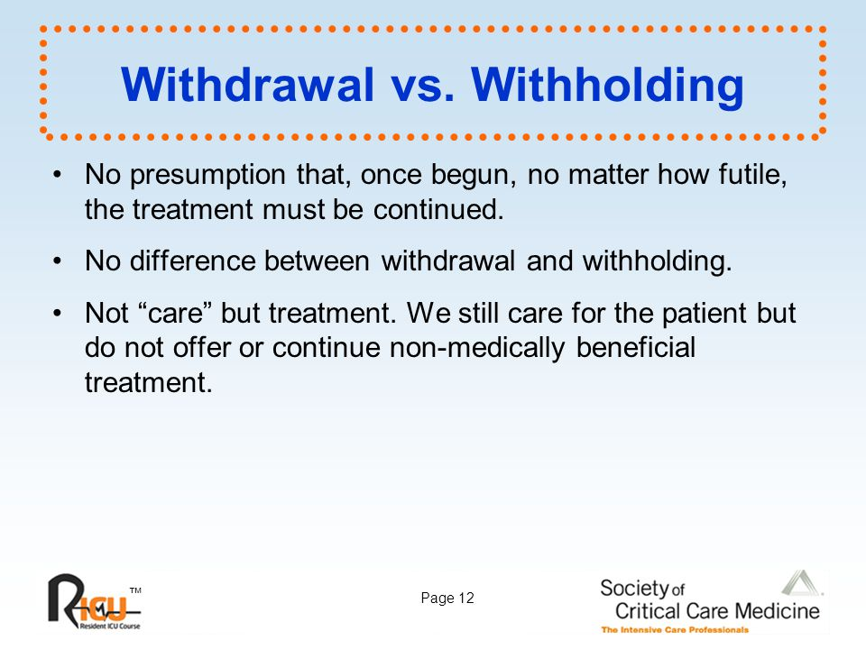 Withdrawal vs. Withholding