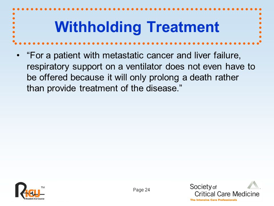 Withholding Treatment