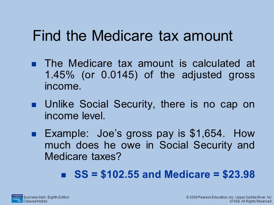 Find the Medicare tax amount