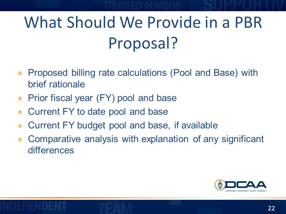 What Should We Provide in a PBR Proposal