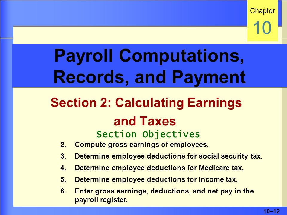 Payroll Computations, Records, and Payment