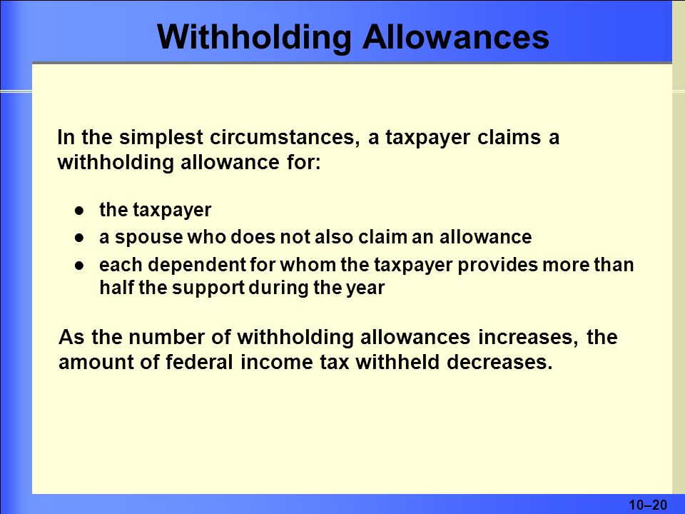 Withholding Allowances