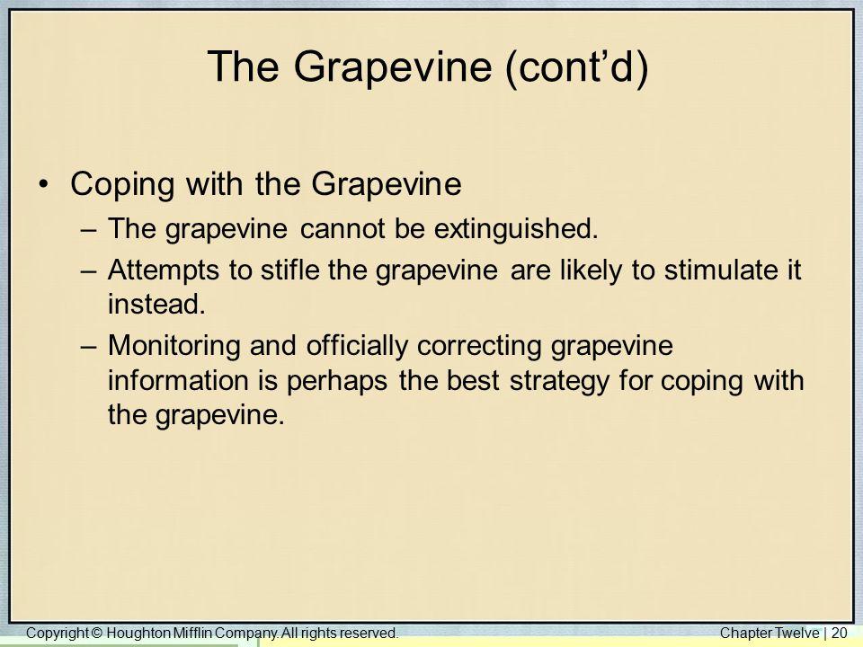 The Grapevine (cont'd)