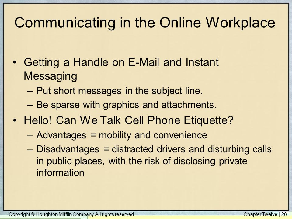 Communicating in the Online Workplace