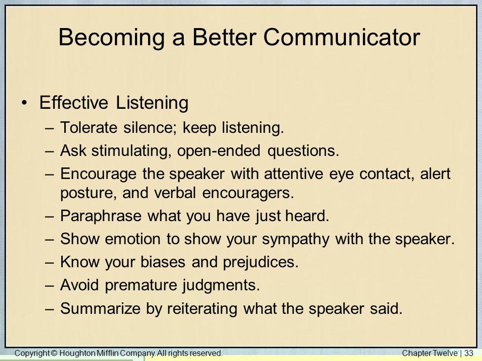 Becoming a Better Communicator