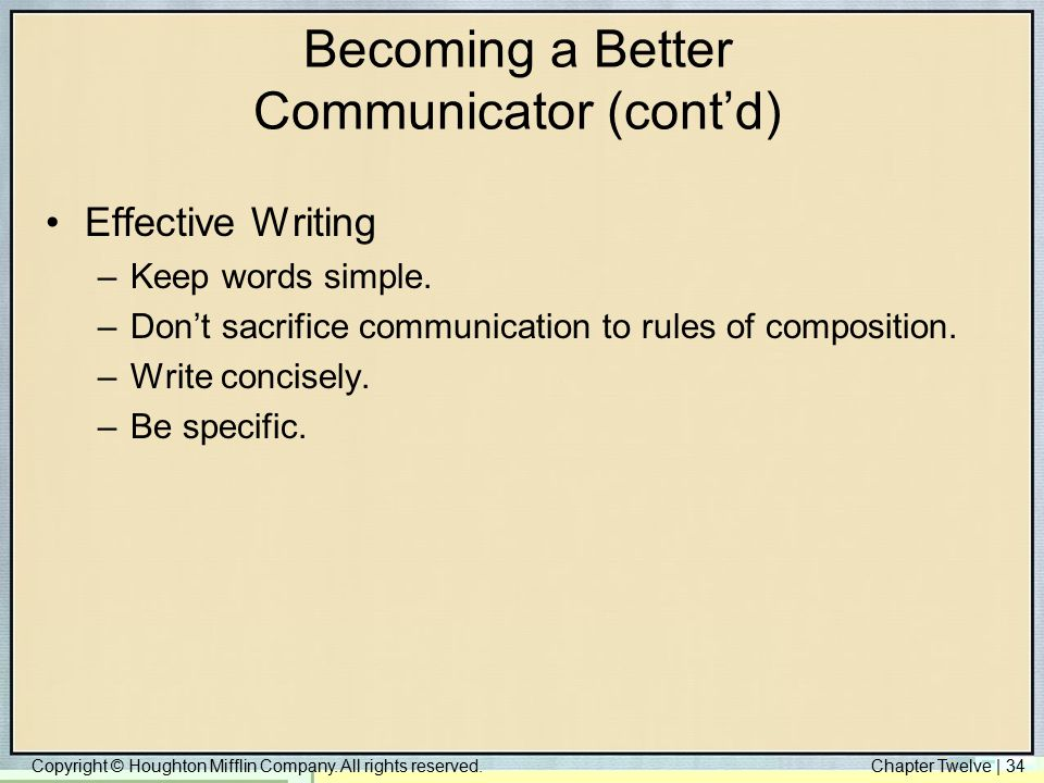 Becoming a Better Communicator (cont'd)