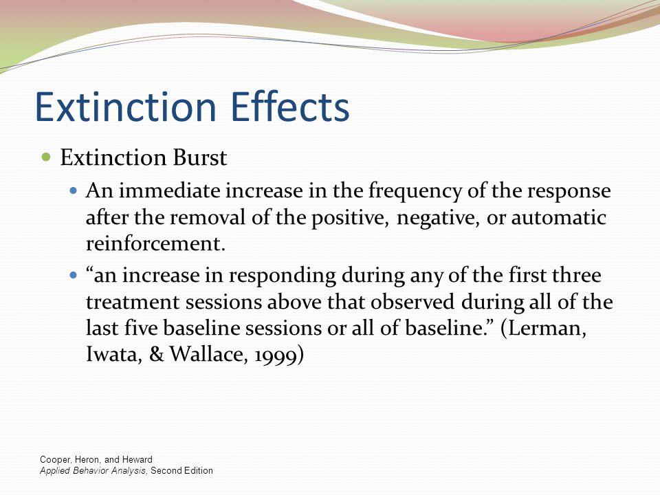 Extinction Effects Extinction Burst