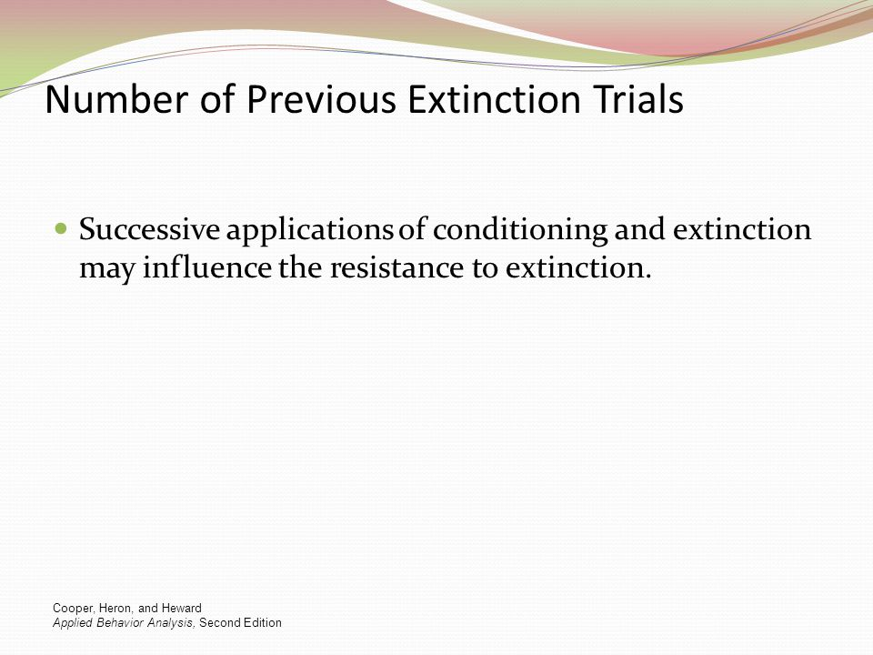 Number of Previous Extinction Trials