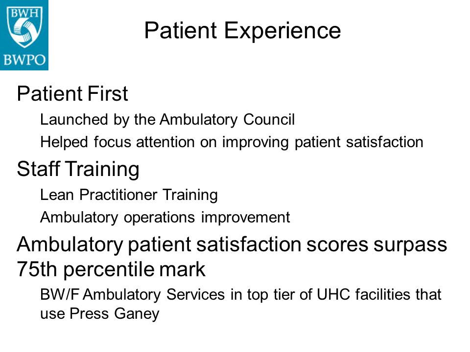 Patient Experience Patient First Staff Training