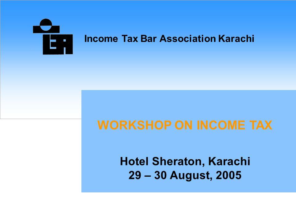 Hotel Sheraton, Karachi 29 – 30 August, 2005