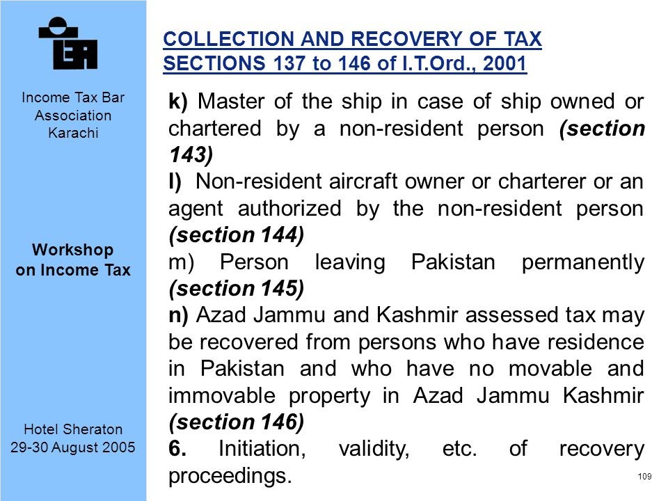 m) Person leaving Pakistan permanently (section 145)