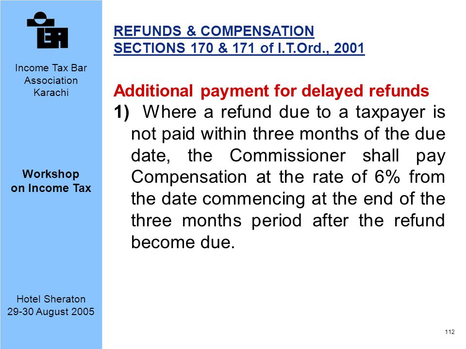 REFUNDS & COMPENSATION