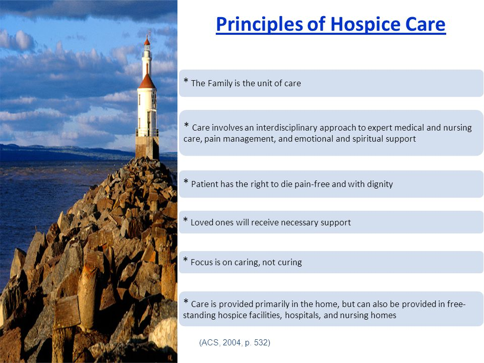 Principles of Hospice Care