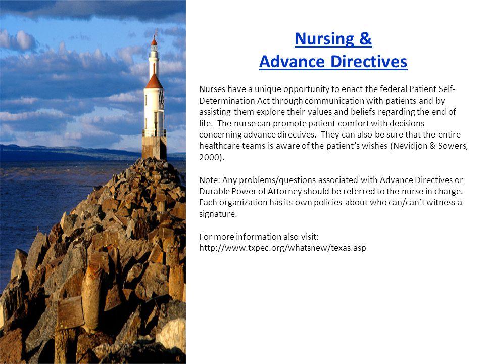 Nursing & Advance Directives