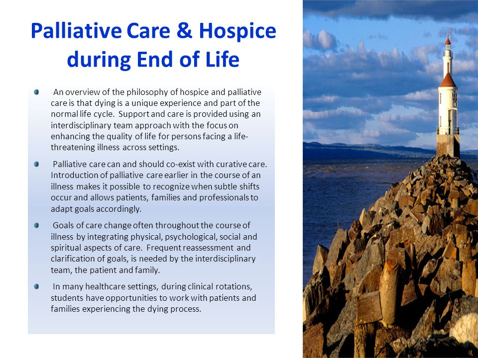 Palliative Care & Hospice during End of Life