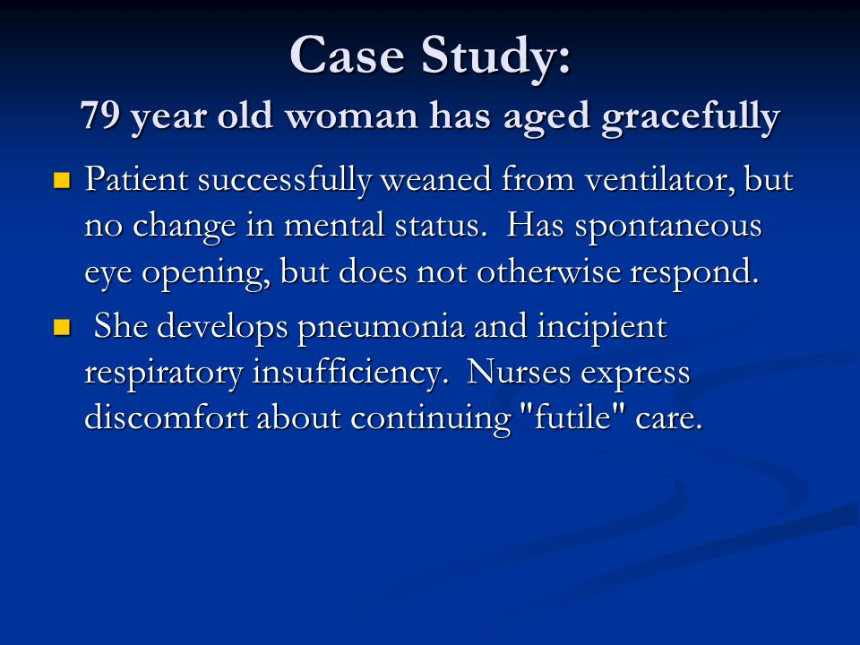 Case Study: 79 year old woman has aged gracefully