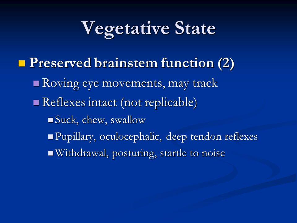Vegetative State Preserved brainstem function (2)