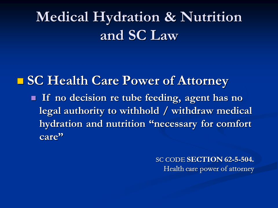 Medical Hydration & Nutrition and SC Law