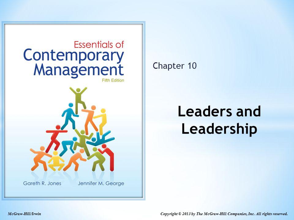 Leaders and Leadership