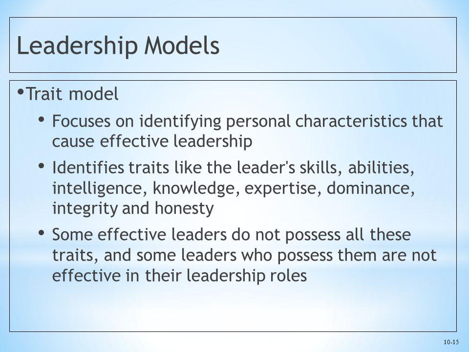 Leadership Models Trait model