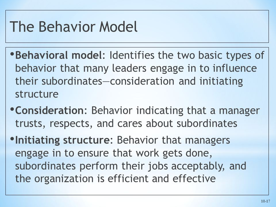 The Behavior Model
