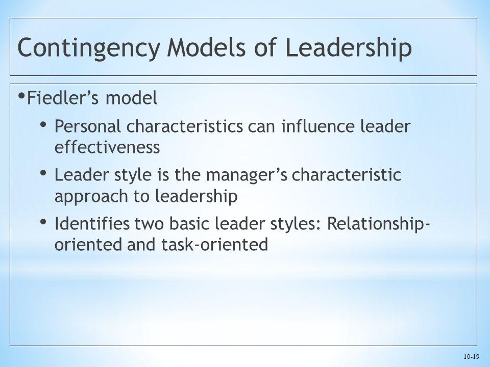 Contingency Models of Leadership
