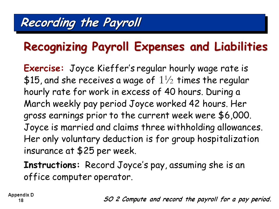 Recognizing Payroll Expenses and Liabilities