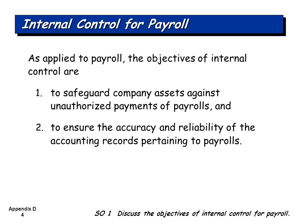 Internal Control for Payroll