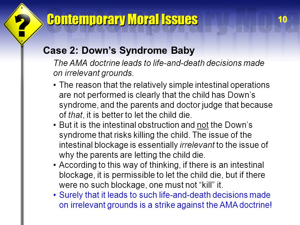 Case 2: Down's Syndrome Baby