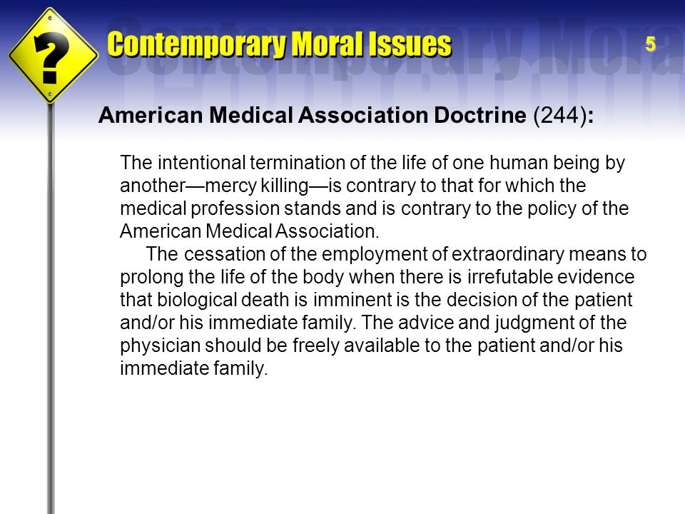 American Medical Association Doctrine (244):