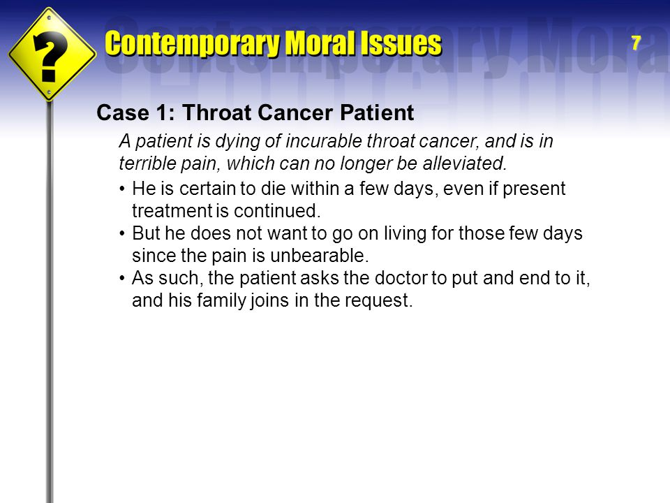 Case 1: Throat Cancer Patient