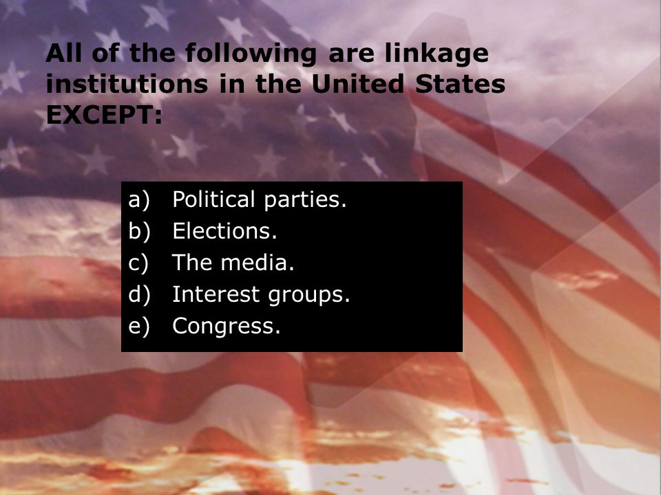 All of the following are linkage institutions in the United States EXCEPT: