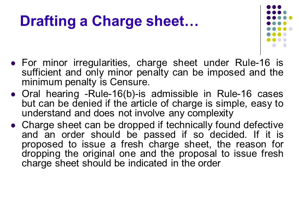 Drafting a Charge sheet…