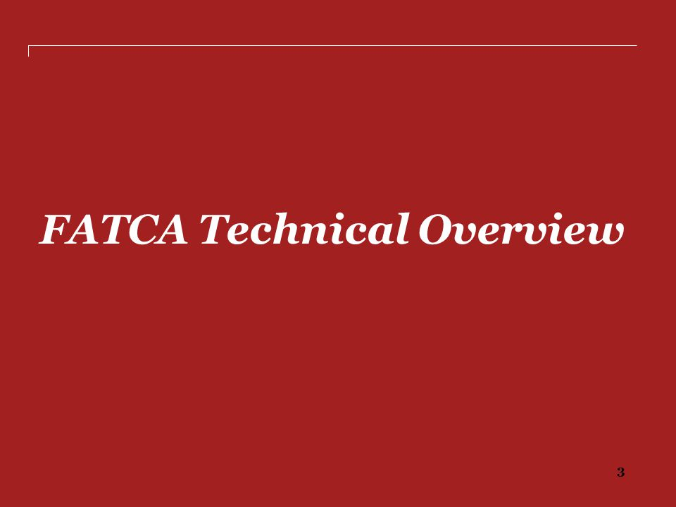 FATCA Technical Overview