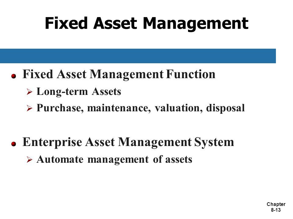 Fixed Asset Management