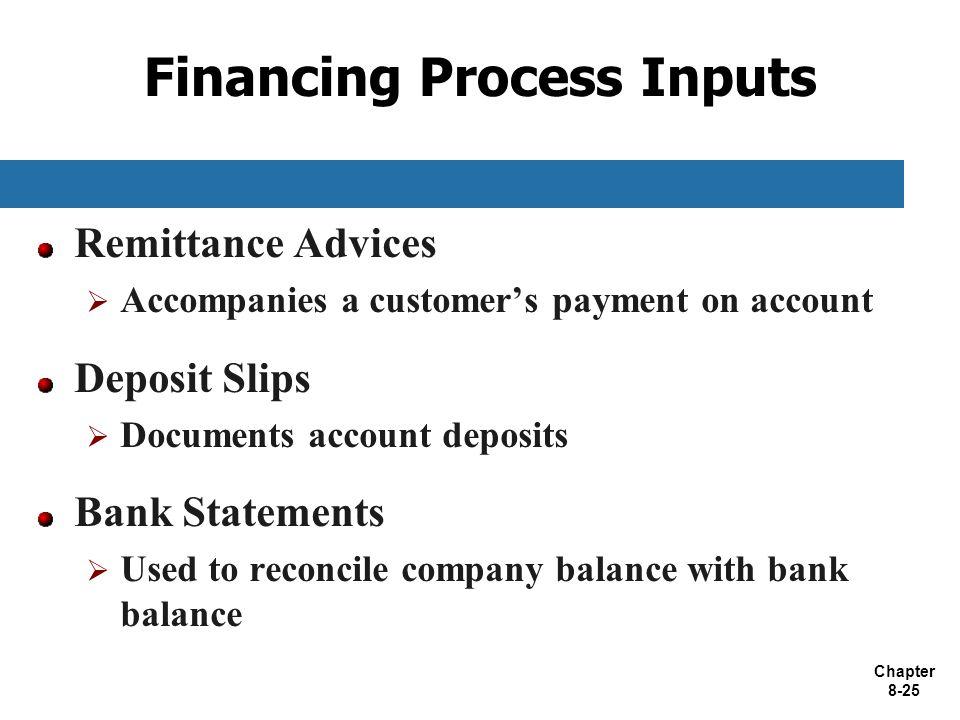 Financing Process Inputs