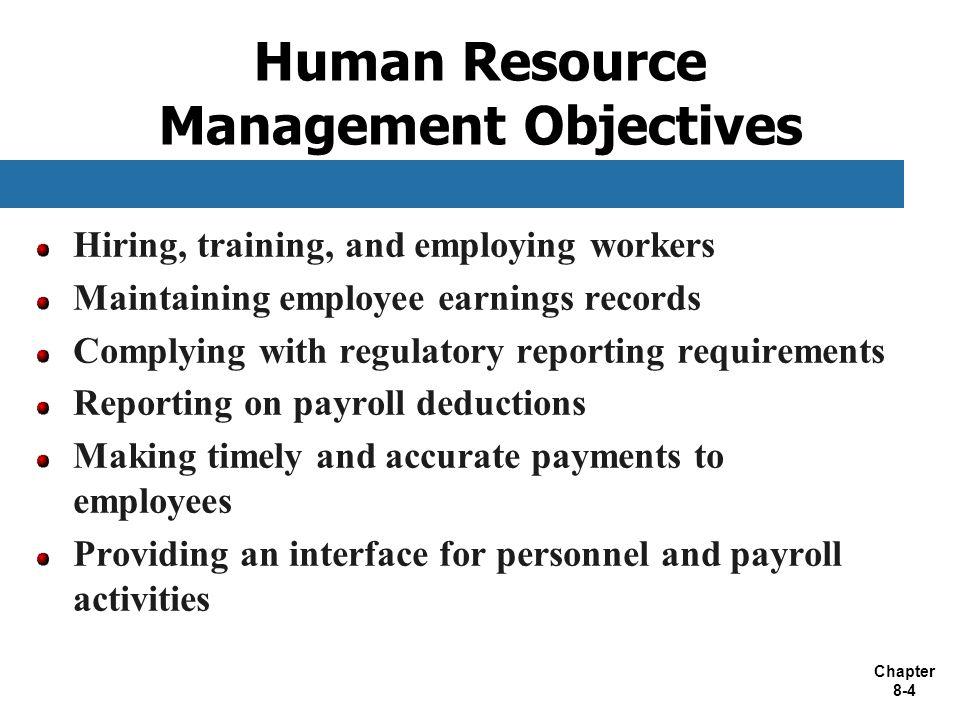 Human Resource Management Objectives