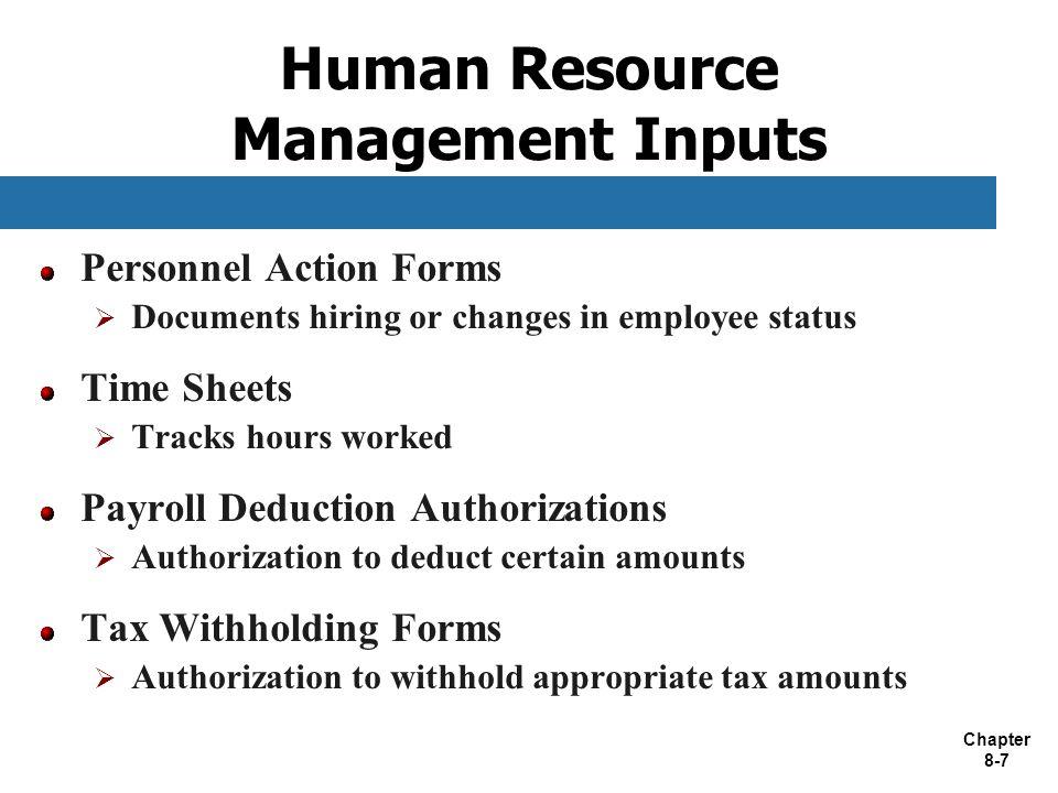 Human Resource Management Inputs
