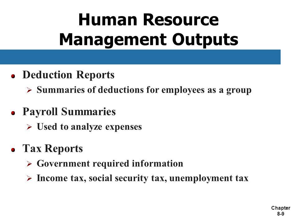 Human Resource Management Outputs