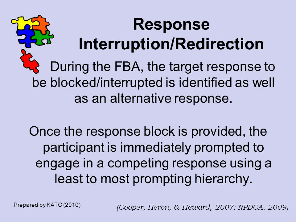 Response Interruption/Redirection