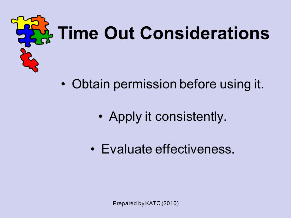 Time Out Considerations