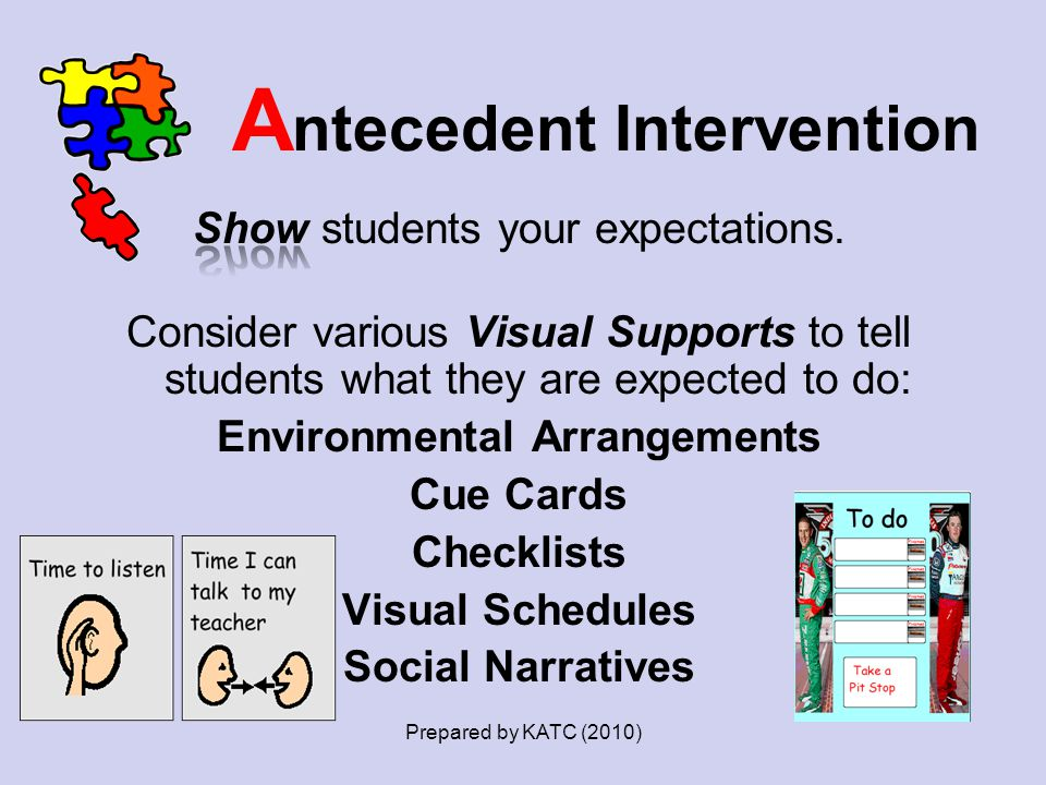 Antecedent Intervention