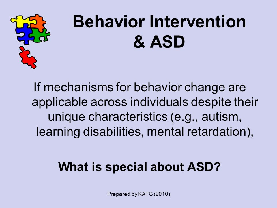 Behavior Intervention & ASD