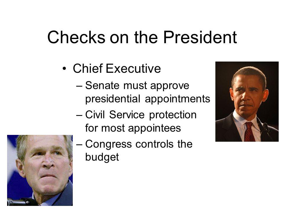 Checks on the President
