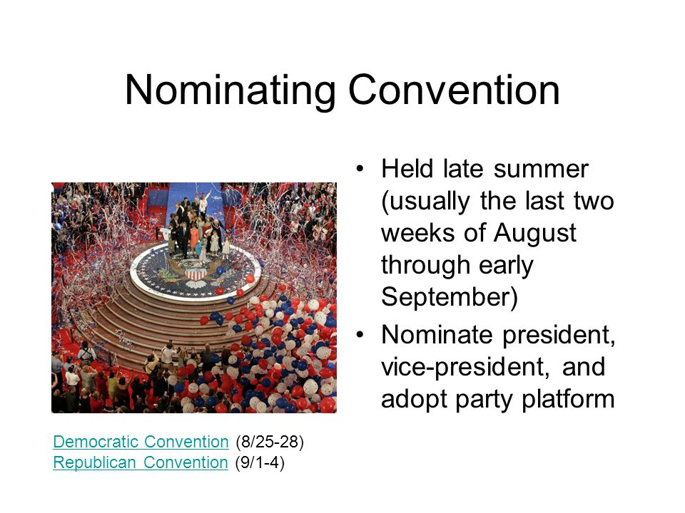 Nominating Convention