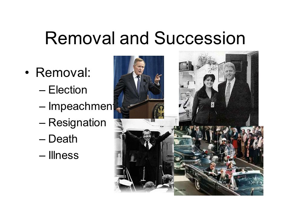 Removal and Succession