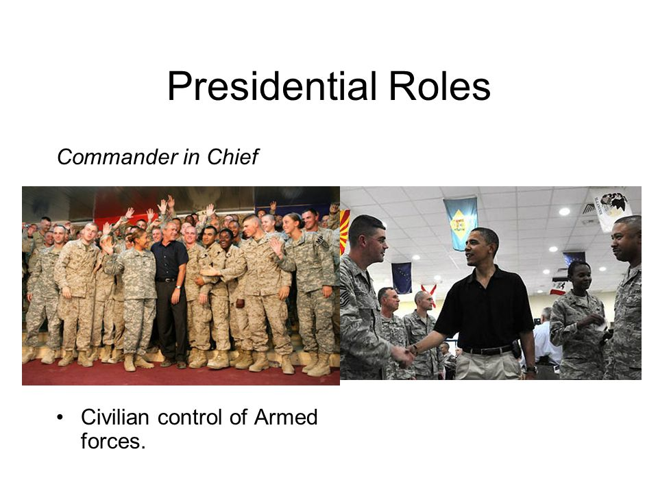 Presidential Roles Commander in Chief