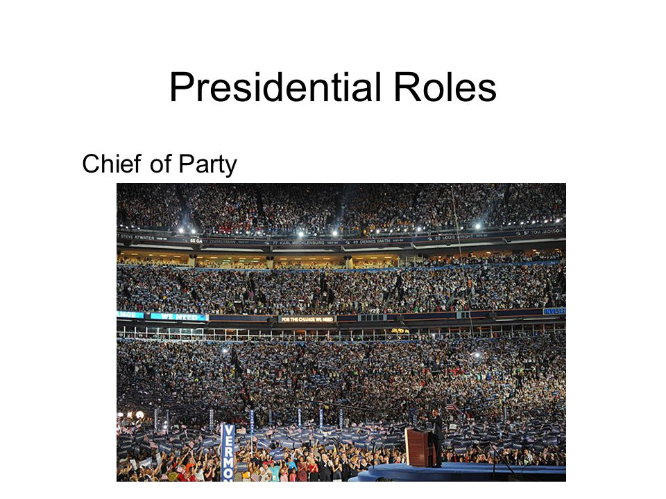 Presidential Roles Chief of Party