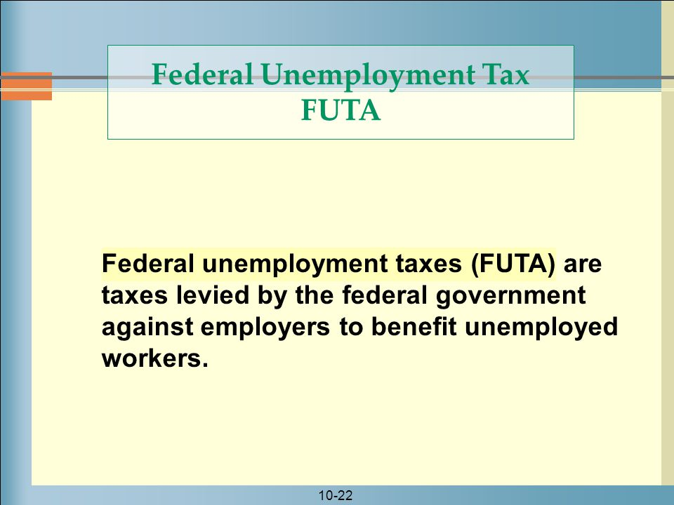 Federal Unemployment Tax